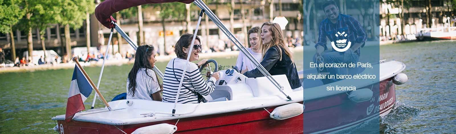 Amigos en un barco