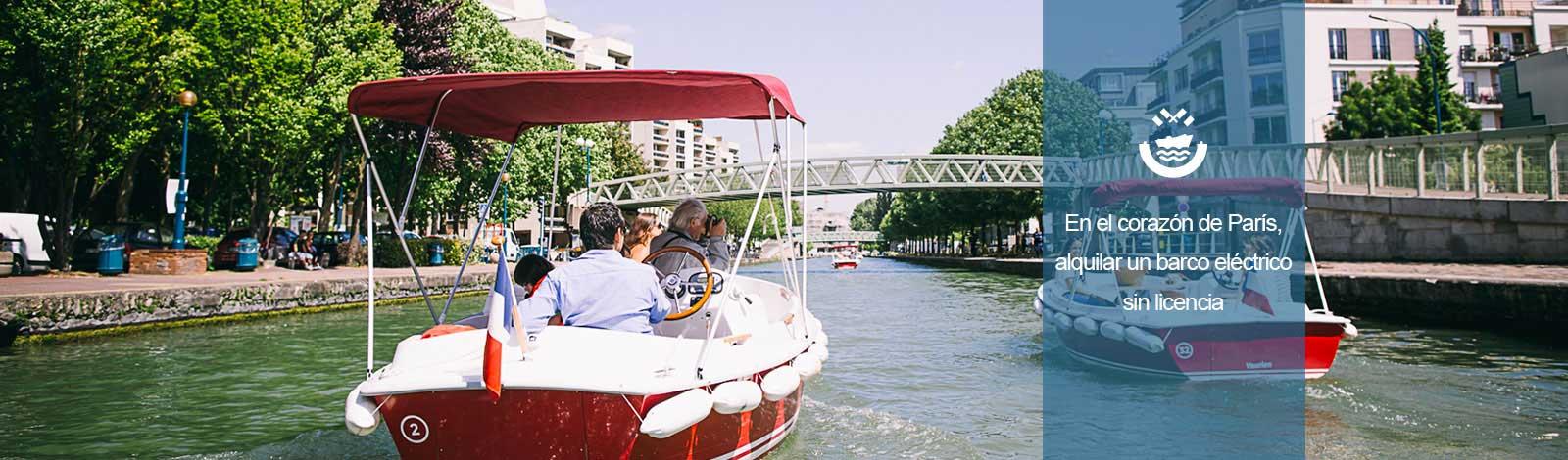 Barcos paseo canal de l'Ourcq