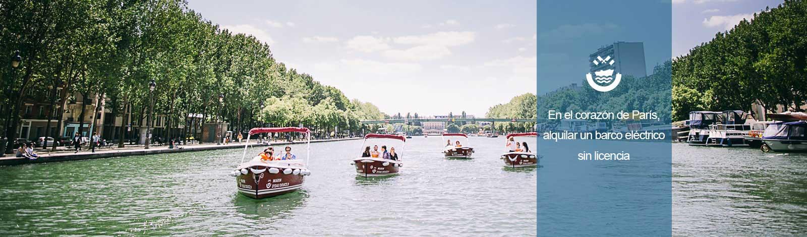 Barcos cuenca de la Villette
