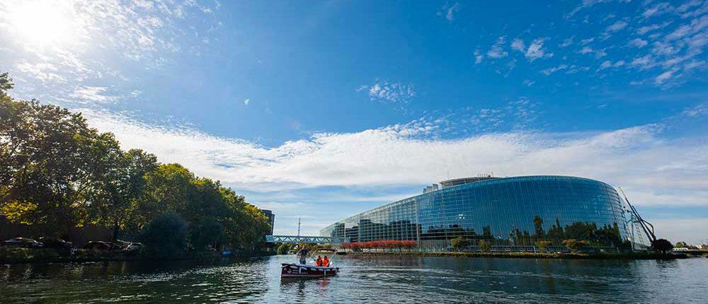 El Parlamento europeo de Estrasburgo