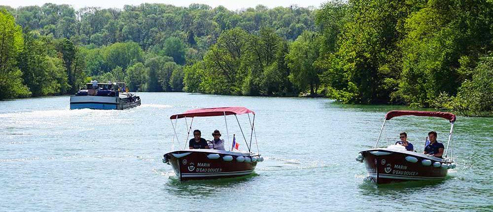 Itinerario 3H en Meaux Alquile uno de nuestros barcos eléctricos sin licencia y descubra el marne de lo contrario