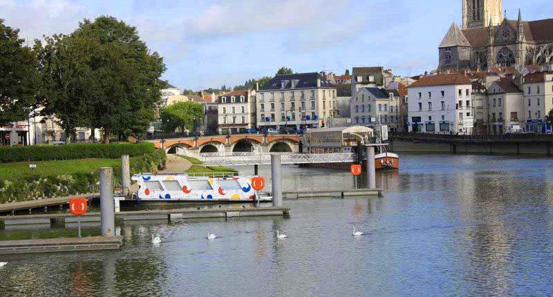 Meaux, el puente de los viejos molinos.